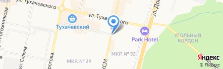 Квинта на карте Ставрополя