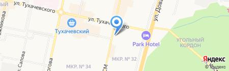 Апельсин на карте Ставрополя