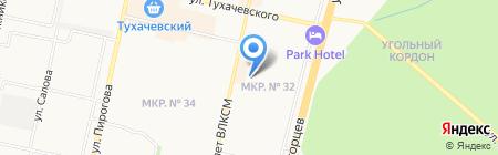 Почтовое отделение №42 на карте Ставрополя