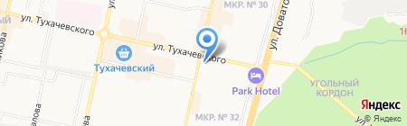 Магазин посуды на ул. 50 лет ВЛКСМ на карте Ставрополя