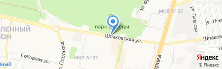 Автостоянка на Шпаковской на карте Ставрополя