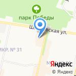 Клевер на карте Ставрополя