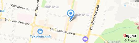 Канцереал на карте Ставрополя