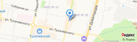 Юг-Уют на карте Ставрополя