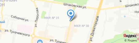 Автотур на карте Ставрополя