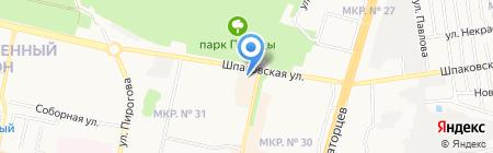 Салют на карте Ставрополя