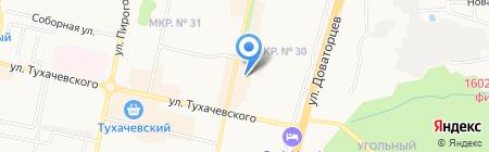 Магазин тканей и постельных принадлежностей на карте Ставрополя