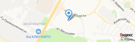 Средняя общеобразовательная школа №7 на карте Ставрополя