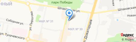Глория на карте Ставрополя