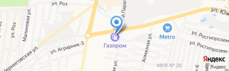 АЗС Газпром на карте Ставрополя