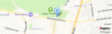 Парк Победы на карте Ставрополя