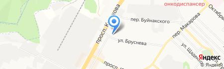 Кожа на карте Ставрополя