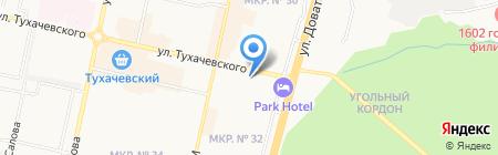 Спортивно-оздоровительный комплекс на карте Ставрополя