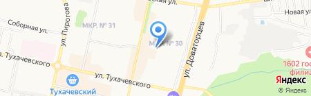Управляющая компания-6 на карте Ставрополя