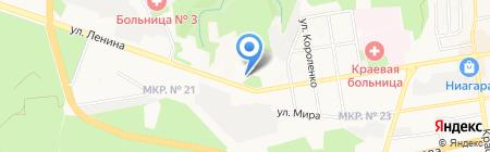 Алтея на карте Ставрополя
