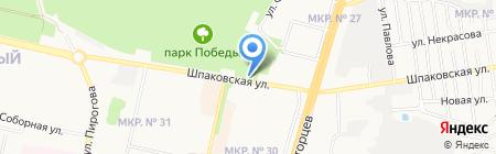 Цветочный Остров на карте Ставрополя