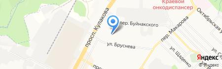 Меланж на карте Ставрополя