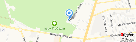 Автостоянка на ул. Шпаковская на карте Ставрополя