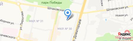 Детский сад №50 на карте Ставрополя