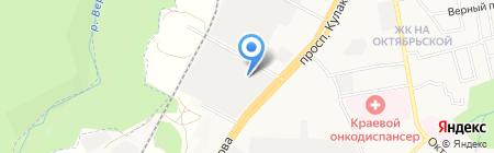 Шиномонтаж на карте Ставрополя