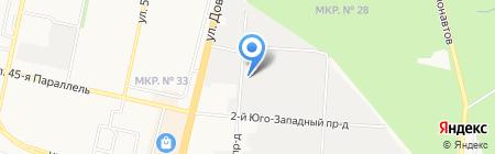 Сивер на карте Ставрополя