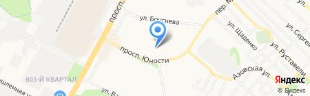Автостоянка на проспекте Юности на карте Ставрополя