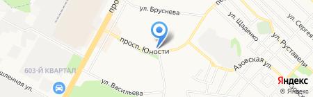 Сувлачная на карте Ставрополя