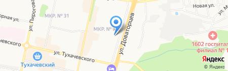 Магазин по продаже овощей и фруктов на ул. Доваторцев на карте Ставрополя