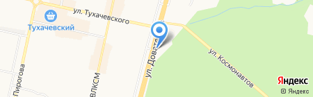 Приход храма Александра Невского на карте Ставрополя