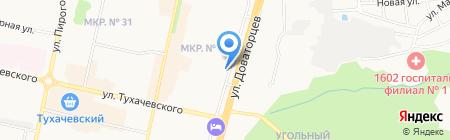 Настенька на карте Ставрополя