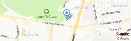 Лицей №17 на карте Ставрополя