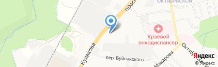 Краснодарский университет МВД России на карте Ставрополя