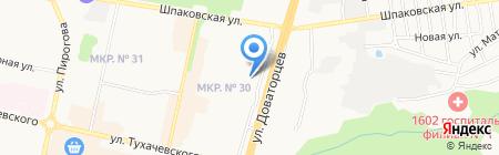 Орхидея на карте Ставрополя
