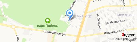 Альгис на карте Ставрополя