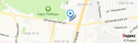 Дефиле на карте Ставрополя