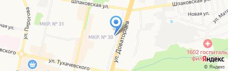 Отдел судебных приставов по Промышленному району г. Ставрополя на карте Ставрополя