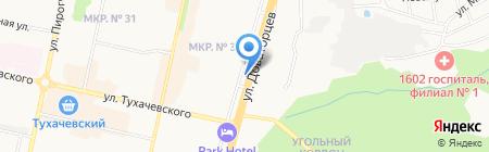 Эдельвейс на карте Ставрополя