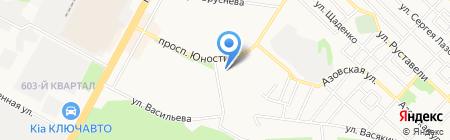 Разносолы Ставрополя на карте Ставрополя