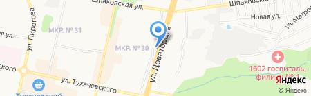 Чайхана Бархан на карте Ставрополя