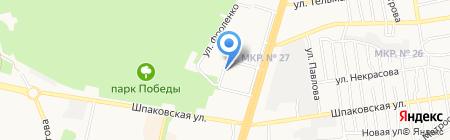 Магазин мяса птицы на карте Ставрополя