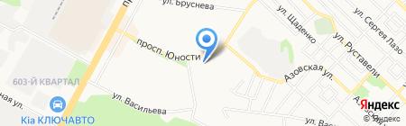 Бахрома на карте Ставрополя