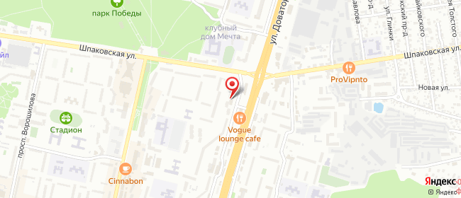 Карта расположения пункта доставки 220 вольт в городе Ставрополь