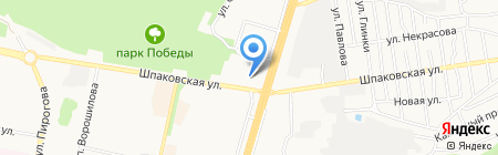 Свет Нефертити на карте Ставрополя