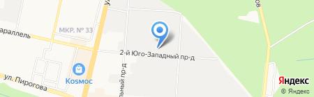 Дамиана на карте Ставрополя