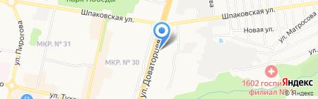 Беркут на карте Ставрополя