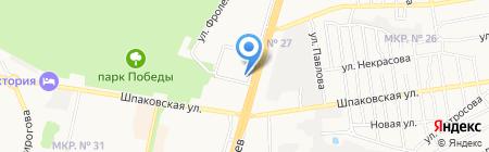 Автогаз на карте Ставрополя