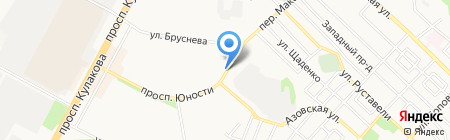 Киоск по продаже цветов на карте Ставрополя