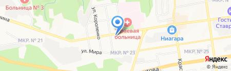 Ставропольский краевой центр по профилактике и борьбе со СПИД и инфекционными заболеваниями на карте Ставрополя