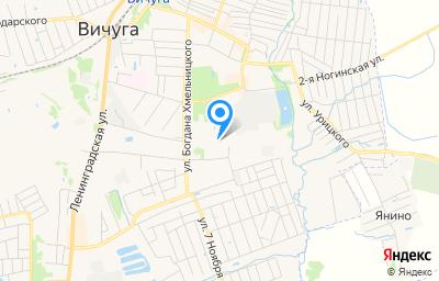 Местоположение на карте пункта техосмотра по адресу Ивановская обл, г Вичуга, ул Виноградовых, д 12