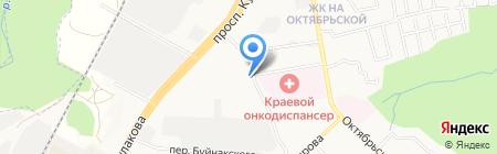 Южный регион на карте Ставрополя
